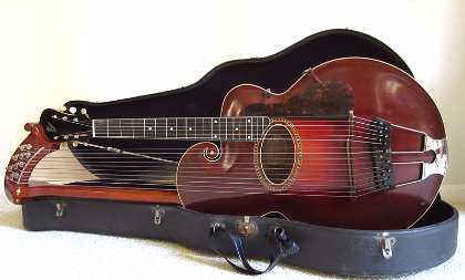 gibson pre war guitars kevin mark designs gibson 1917 style u harp guitar. Black Bedroom Furniture Sets. Home Design Ideas