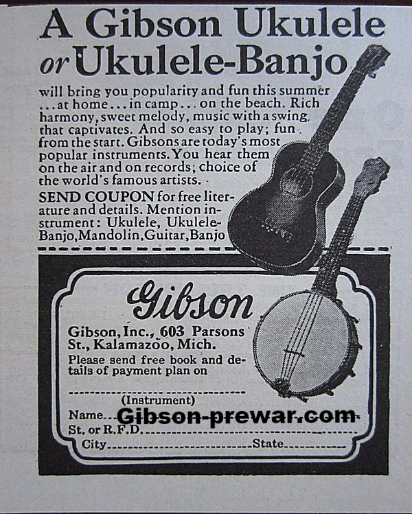 Gibson Pre-War Guitars, Kevin Mark Designs - More Prewar Ads