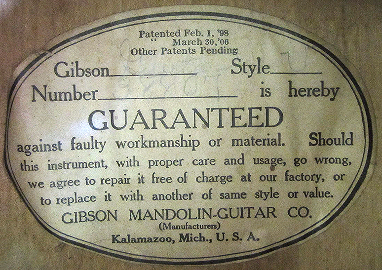 Gibson Pre-War Guitars, Kevin Mark Designs - Gibson 1917