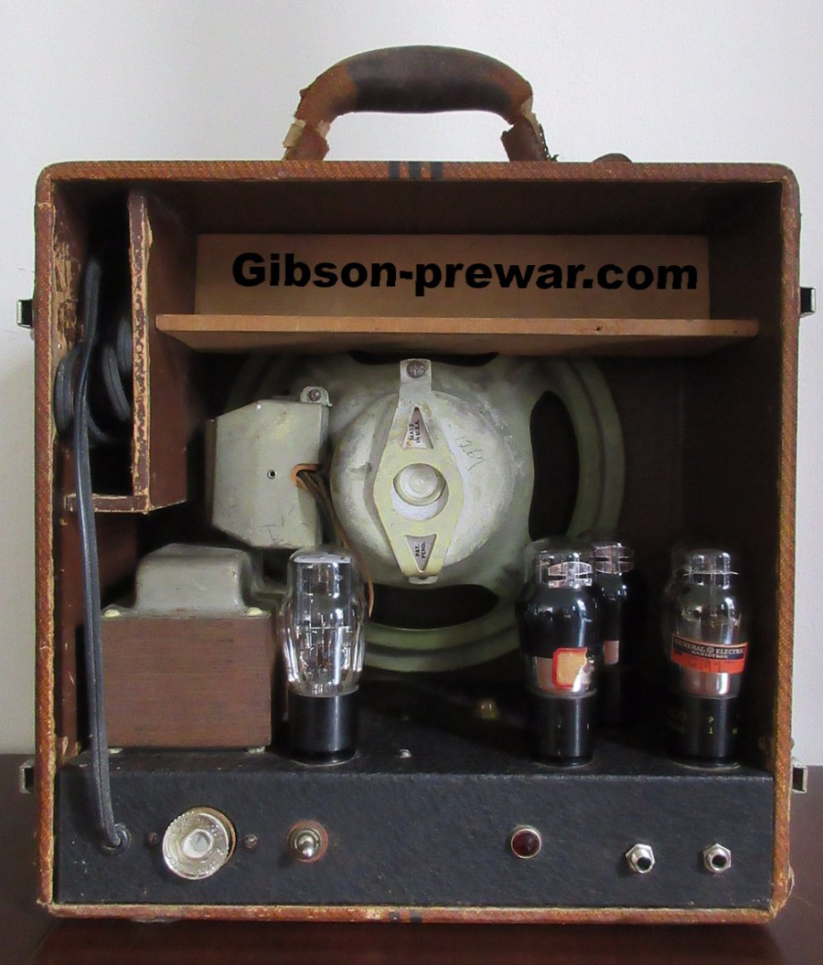 Gibson Pre War Guitars Kevin Mark Designs 1935 E 150 1st Home Fuse Box Amps Inside Electronics